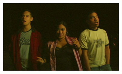 "Billy, Maribel and Rodel singing in the streets of Colma in ""Things Will Get Better."""